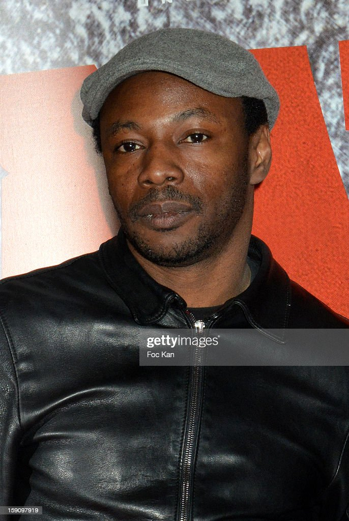 Mc Solaar attends the 'Django Unchained' Paris premiere red carpet arrival at Le Grand Rex on January 7, 2013 in Paris, France.