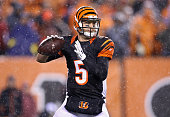McCarron of the Cincinnati Bengals looks to pass in the fourth quarter against the Pittsburgh Steelers during the AFC Wild Card Playoff game at Paul...