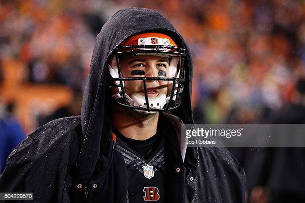 McCarron of the Cincinnati Bengals reacts on the sideline in the fourth quarter against the Pittsburgh Steelers during the AFC Wild Card Playoff game...