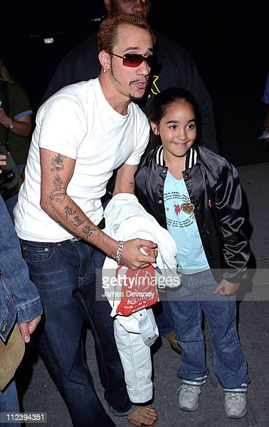 AJ McClean of Backstreet Boys and fans during AJ McClean of Backstreet Boys Sighting in New York City on September 3 2001 at New York City in New...