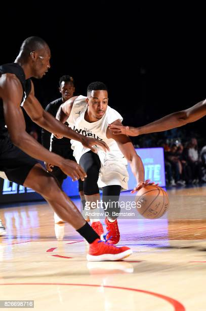 McCollum of Team World handles the ball against Team Africa in the 2017 Africa Game as part of the Basketball Without Borders Africa at the Ticketpro...