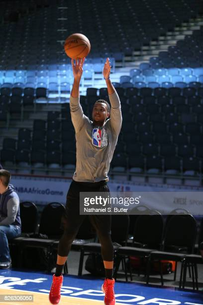 J McCollum of Team World practices for the 2017 Africa Game as part of the Basketball Without Borders Africa at the Ticketpro Dome on August 4 2017...