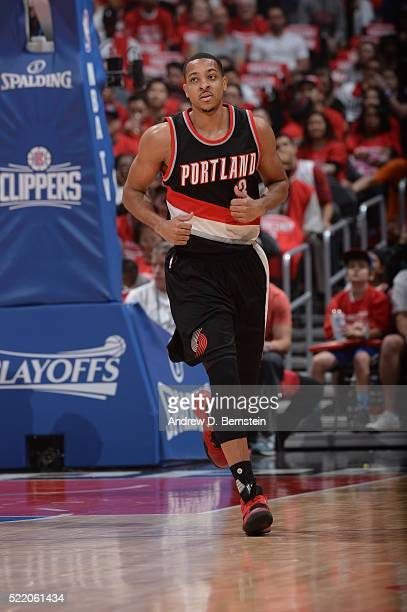 J McCollum of the Portland Trail Blazers against the Los Angeles Clippers in Game One of the Western Conference Quarterfinals during the 2016 NBA...