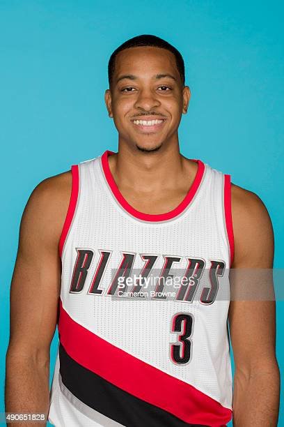 J McCollum of the Portland Trail Blazers poses for a head shot during media day on September 28 2015 at the MODA Center Arena in Portland Oregon NOTE...