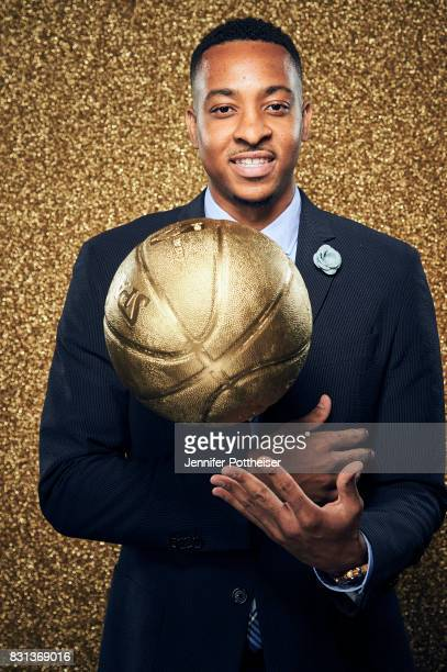 J McCollum of the Portland Trail Blazers poses for a portrait at the NBA Awards Show on June 26 2017 at Basketball City at Pier 36 in New York City...