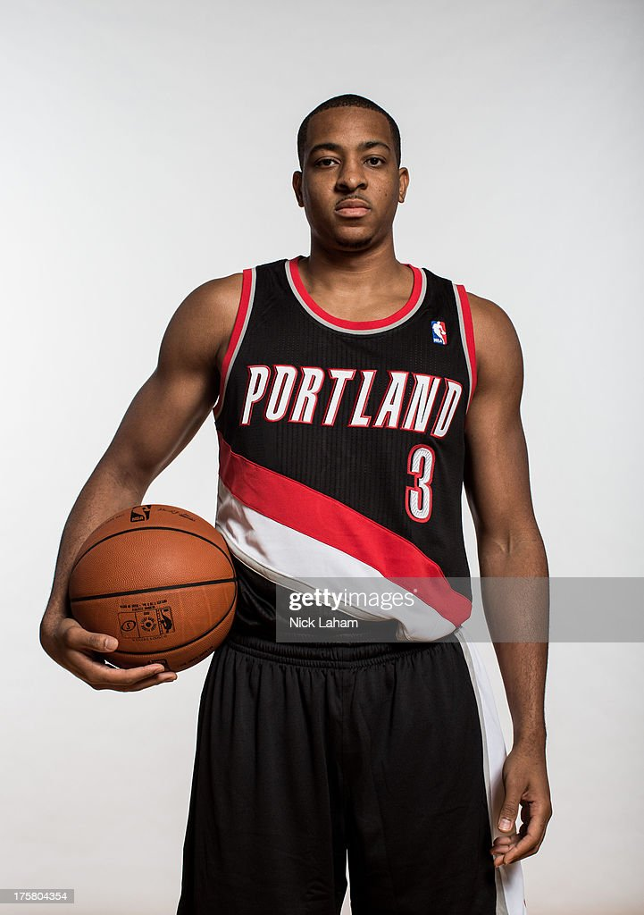 J McCollum of the Portland Trail Blazers poses for a portrait during the 2013 NBA rookie photo shoot at the MSG Training Center on August 6 2013 in...