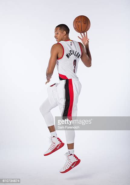McCollum of the Portland Trail Blazers poses for a portrait during the 20162017 Portland Trail Blazer Media Day September 26 2016 at the Veterans...