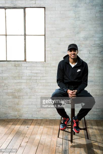C J McCollum of the Portland Trail Blazers poses for a portrait during the 2017 AllStar Media Circuit at the Ritz Carlton in New Orleans Louisiana...