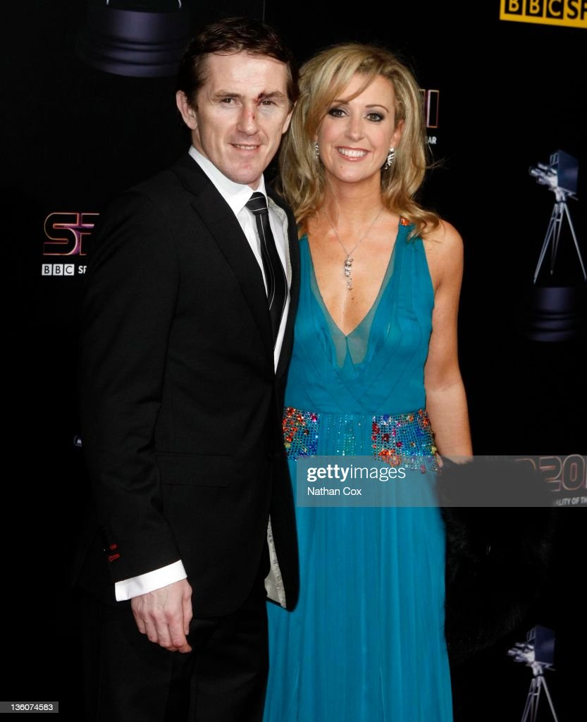 AP McCoy and wife Chanelle McCoy (R) attend the awards ceremony for BBC Sports Personality of the Year 2011 at Media City UK on December 22, 2011 in Manchester, England.