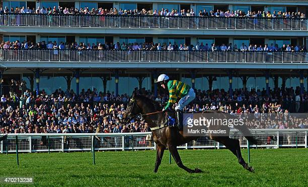 McCoy on Lettheriverrundry finishes his last Ayr Races meeting during the J V Scaffolding Standard Open National Hunt Flat Race on the second day of...