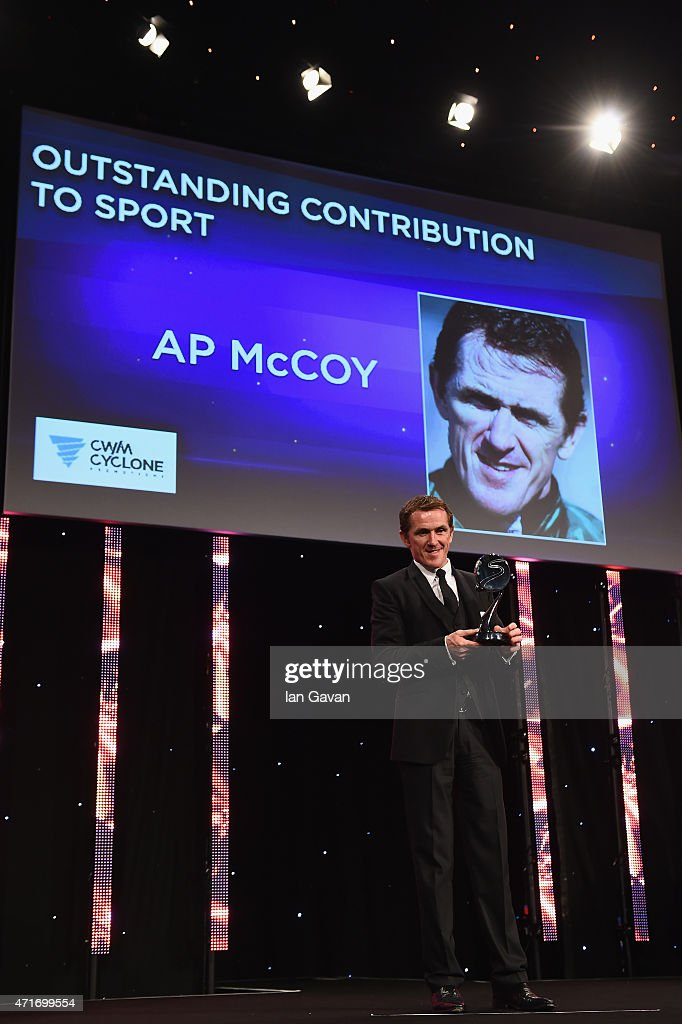 McCoy receives the Outstanding Contribution to Sport, sponsored by CWM Cyclong Promotions at the BT Sport Industry Awards 2015 at Battersea Evolution on April 30, 2015 in London, England. The BT Sport Industry Awards is the most prestigious commercial sports awards ceremony in Europe, where over 1750 of the industry's key decision-makers mix with high profile sporting celebrities for the most important networking occasion in the sport business calendar.