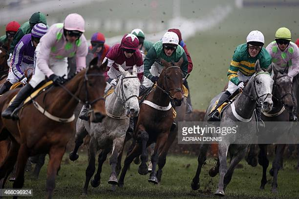 AP McCoy riding Hargam during the JCB Triumph Hurdle Race on the final day of the Cheltenham Festival horse racing meeting at Cheltenham Racecourse...