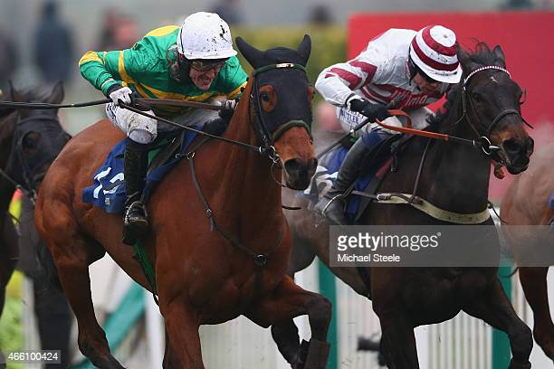 P McCoy riding Ned Buntline heads up the finishing straight on his way to finishing fourth in his last ever ride in the APMcCoy Grand Annual Handicap...
