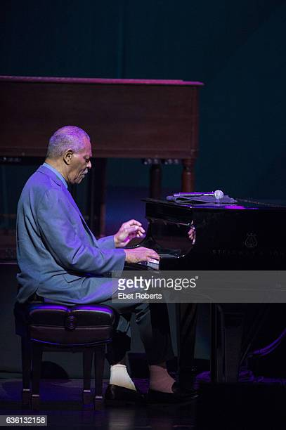 McCoy Tyner performs at the Jazz Foundation of America's 15th Annual 'A Great Night in Harlem' Gala Concert at the Apollo Theater in New York City on...