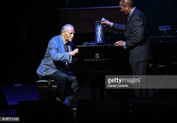 McCoy Tyner performs during the 15th Annual 'A Great Night in Harlem' Gala at The Apollo Theater on October 27 2016 in New York City