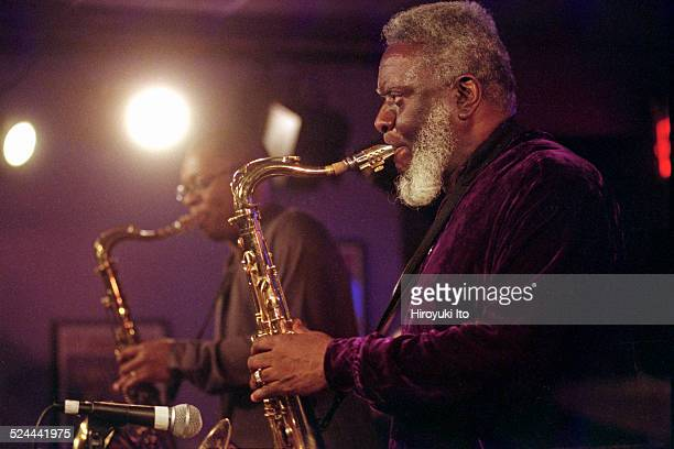 McCoy Tyner Quintet performing at Iridium on Tuesday night May 11 2004This imageRavi Coltrane left and Pharoah Sanders