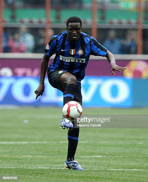 Mcdonald Mariga of FC Internazionale Milano in action during the Serie A match between FC Internazionale Milano and Atalanta BC at Stadio Giuseppe...