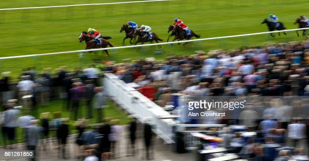 McDonald riding Rufus King win The Darley Nursery Handicap Stakes at Newmarket racecourse on October 14 2017 in Newmarket United Kingdom