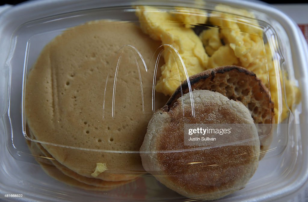 McDonald's 'Big Breakfast' is displayed at a McDonald's restaurant on July 23 2015 in Fairfield California McDonald's has been testing allday...