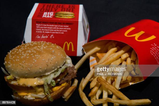 A McDonald's Big Mac and French Fries are seen in this photo taken August 12 2009 in Washington DC AFP Photo/Paul J Richards