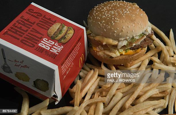 A McDonald's Big Mac and French Fries are seen in this photo taken August 12 2009 AFP Photo/Paul J Richards
