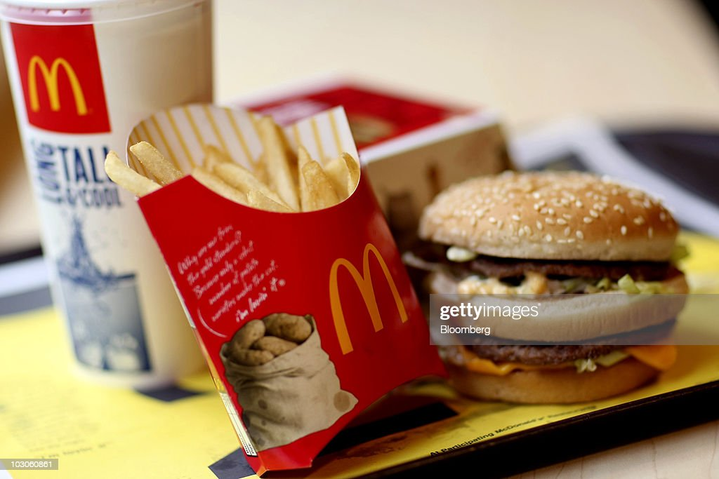 A McDonald's Big Mac value meal a arranged for a photo in New York US on Friday July 23 2010 McDonald's Corp the world's largest restaurant chain...