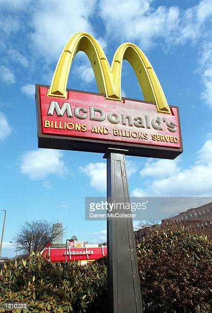 McDonald''s famous golden arch sign is displayed in front of a restraunt March 14 2001 in Boston MA An 11 yearold Detroit boy Vincent Ingram filed a...