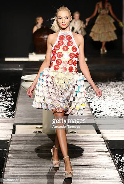 McDonaldÕs left the audience hungry for more McDCouture at Funkshion Fashion Week Miami Beach One of 20 oneofakind designs created from McDonaldÕs...