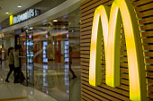 McDonald's logo in a shopping center In the 2014 fiscal figures released on January 23 1% drop in global sales in 2014 highlighted the challenges...