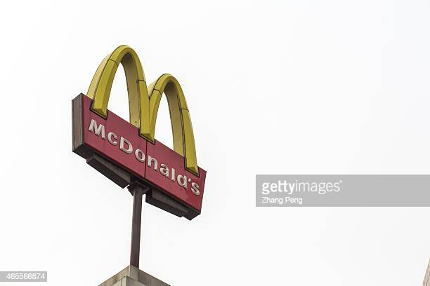 McDonald's logo in the air McDonald's says it will no longer sell food made from chickens raised with certain types of antibiotics