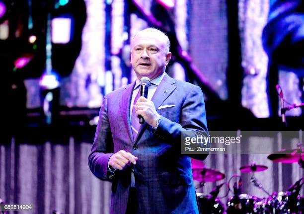 McDonald's owner and operator Paul Hendel speaks onstage at the 35th Anniversary Mother's Day Weekend Gospelfest 2017 at Prudential Center on May 13...