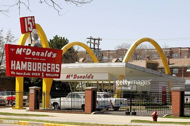 McDonald's USA First Store Museum is seen April 14 2005 in Des Plaines Illinois The McDonald's museum is a recreation of the first McDonald's...