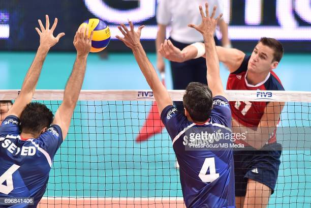Mcdonnell Daniel during the FIVB World League 2017 match between Iran and USA at Arena Spodek on June 15 2017 in Katowice Poland
