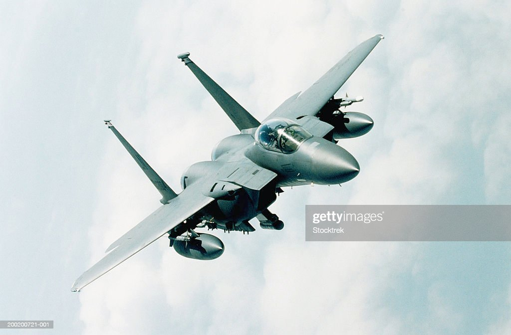 McDonnell Douglas F-15 Eagle in flight during training mission
