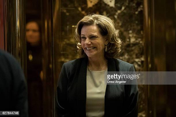 K T McFarland Presidentelect Donald Trump's choice for deputy national security advisor walks in the lobby at Trump Tower December 5 2016 in New York...