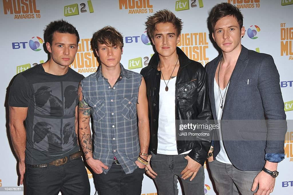 McFly attends the 'BT Digital Music Awards' at The Roundhouse on September 30 2010 in London England