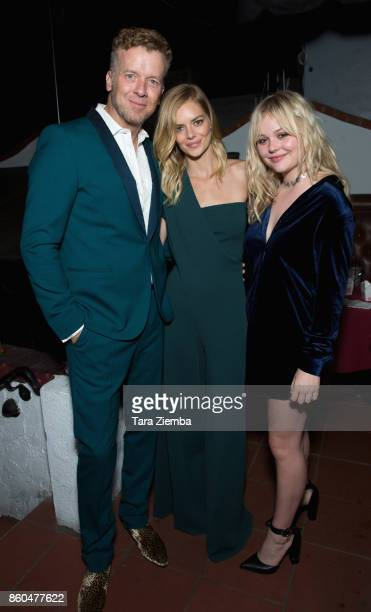 McG Samara Weaving and Emily Alyn Lind attend the premiere of Netflix's 'The Babysitter' on October 11 2017 in Los Angeles California