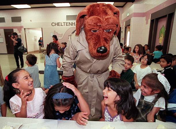 McGruff The Crime Fighting Dog Came To Denver As Part Of A Nation Wide Tour