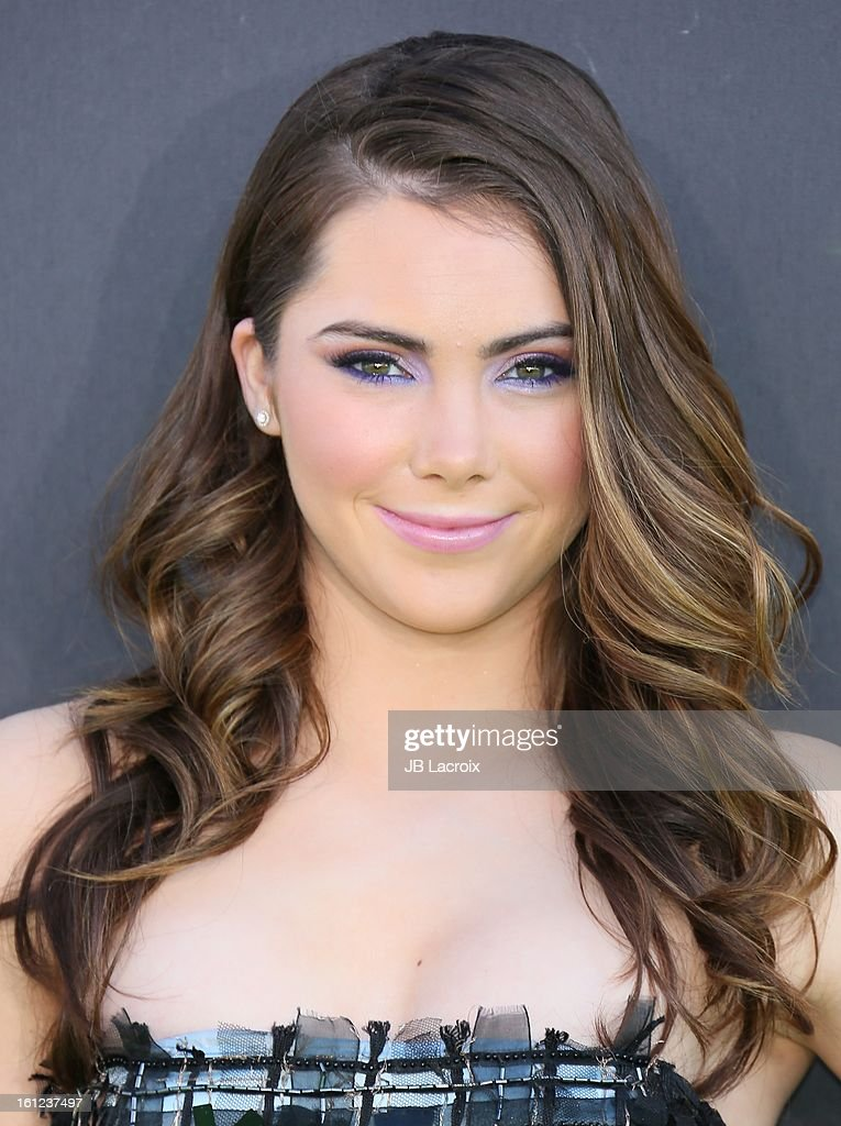 <a gi-track='captionPersonalityLinkClicked' href=/galleries/search?phrase=McKayla+Maroney&family=editorial&specificpeople=7138673 ng-click='$event.stopPropagation()'>McKayla Maroney</a> attends the Third Annual Hall of Game Awards hosted by Cartoon Network at Barker Hangar on February 9, 2013 in Santa Monica, California.