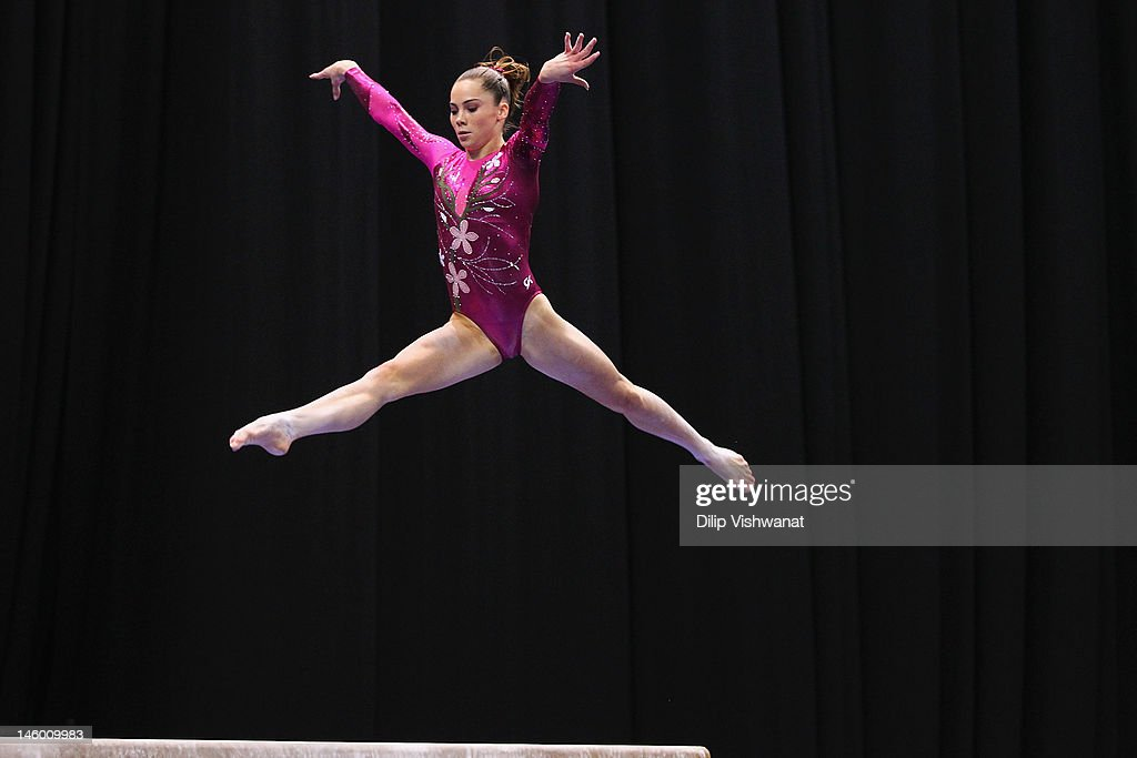 <a gi-track='captionPersonalityLinkClicked' href=/galleries/search?phrase=McKayla+Maroney&family=editorial&specificpeople=7138673 ng-click='$event.stopPropagation()'>McKayla Maroney</a> competes on the balance beam during the Senior Women's competition on day two of the Visa Championships at Chaifetz Arena on June 8, 2012 in St. Louis, Missouri.