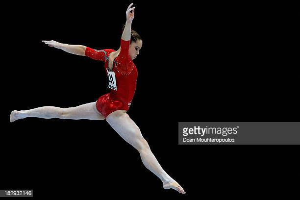 McKayla Maroney of USA competes in the Womens Balance Beam Qualification on Day Three of the Artistic Gymnastics World Championships Belgium 2013...