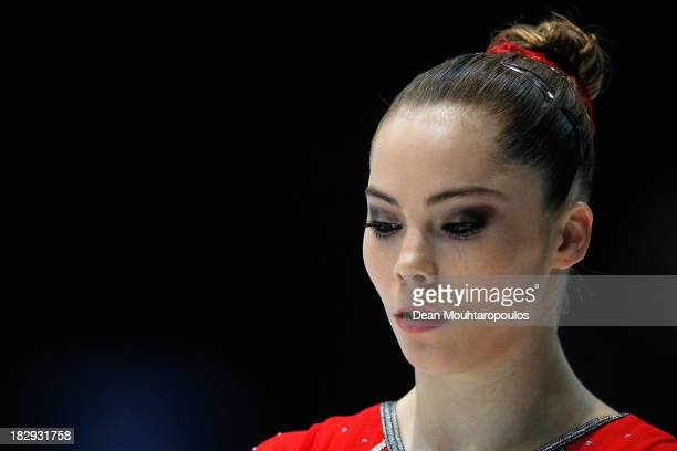 McKayla Maroney of USA gets ready to compete in the Womens Vault Qualification on Day Three of the Artistic Gymnastics World Championships Belgium...