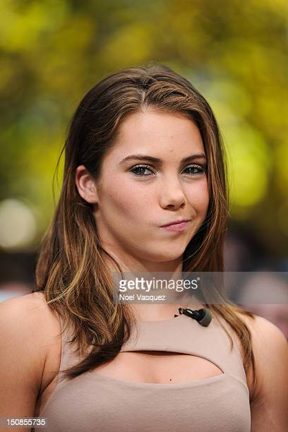 Mckayla Maroney visits 'Extra' at The Grove on August 27 2012 in Los Angeles California