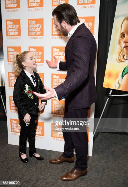 McKenna Grace and Chris Evans attend 'Gifted' New York premiere at New York Institute of Technology on April 6 2017 in New York City