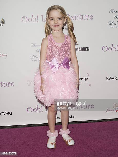 Mckenna Grace arrives at Ooh La La Couture 5th Annual Tutus4Tots Charity Event on February 1 2014 in Los Angeles California