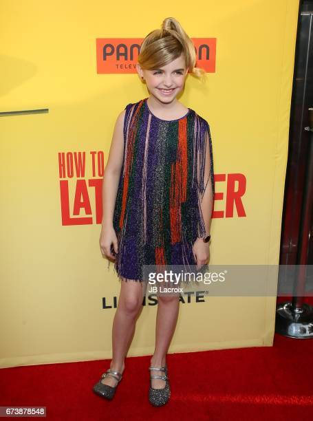 Mckenna Grace attends the premiere of Pantelion Films' 'How To Be A Latin Lover' attends on April 26 2017 in Hollywood California