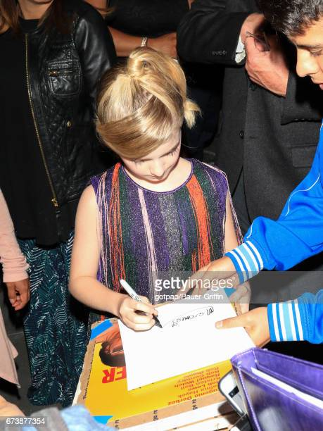 Mckenna Grace is seen on April 26 2017 in Los Angeles California