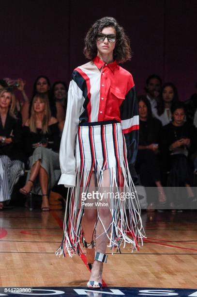McKenna Hellam walks the runway at the Monse fashion show during New York Fashion Week The Shows on September 8 2017 in New York City
