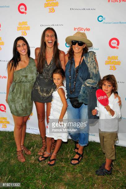McKenzie Keys Gabby Felice and Donna Karan attend Donna Karan Ariel Foxman InStyle Along With Kelly Ripa Ashley Greene Present Super Saturday 13 at...