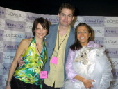 McKenzie Satterthwaite Trent Dawson and Wendy Diamond with her dog Lucky Diamond